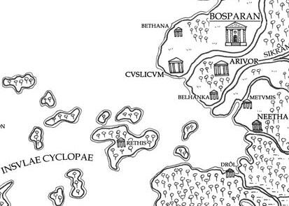 Weltkarte der Bosparaner