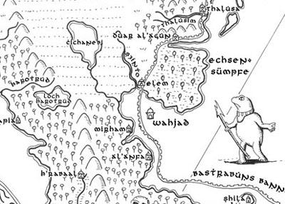 Weltkarte der Tulamiden